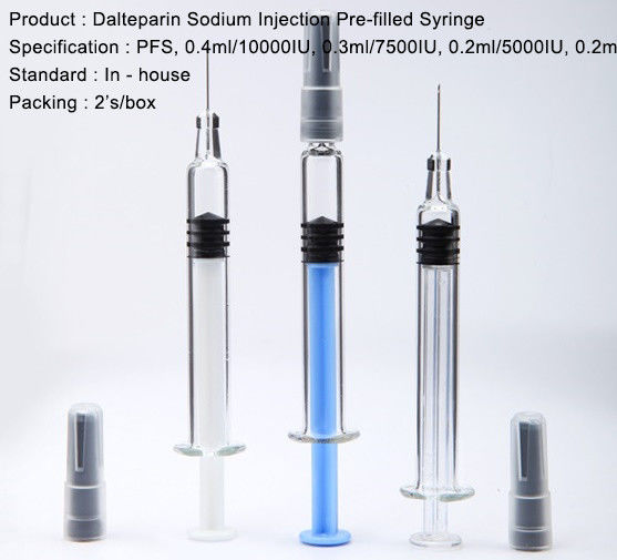 Low Molecular Weight Heparin Dalteparin Sodium Injection Prefilled Syringes PFS Anticoagulant