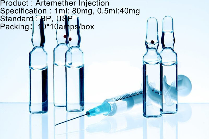 Antimalarial Agent Artemether Injection Dosage Antimalarial Medication 80mg/1ml 40mg/0.5ml