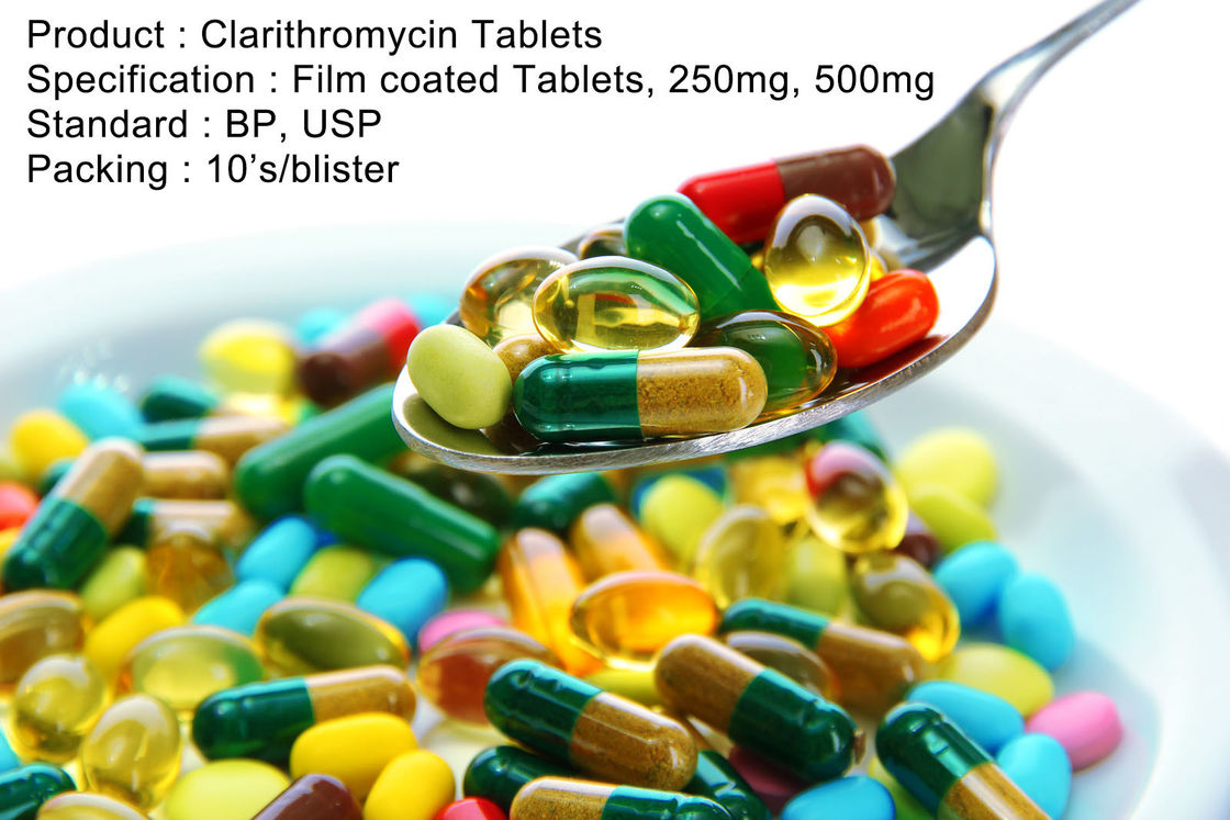 Clarithromycin Tablets Film coated Tablets, 250mg, 500mg Oral Medications Antibiotics